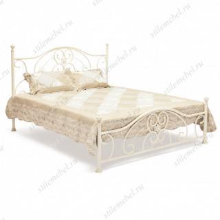 Кровать двуспальная «Элизабет» (Elizabeth) + основание Antique White