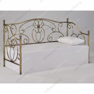 Кровать-диван односпальная «Джейн» (Jane) + основание Antique Brass