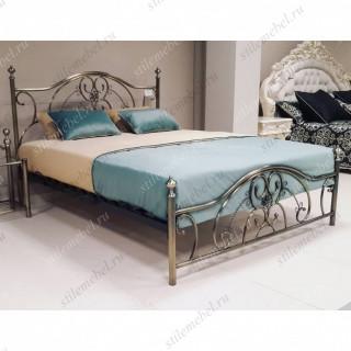 Кровать двуспальная «Элизабет» (Elizabeth) + основание 140х200 Antique Brass