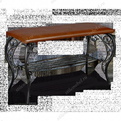 Банкетка Грация 685 металл/кожзам