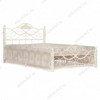 Кровать двуспальная «Канцона» (Canzona) 160х200 см + основание butter white