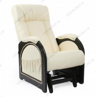 Кресло гляйдер Мод.48 (Дунди-112/Венге) Темно-коричневый