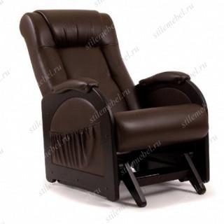 Кресло гляйдер Мод.48 (Or.perlam-120/Венге) Темно-коричневый
