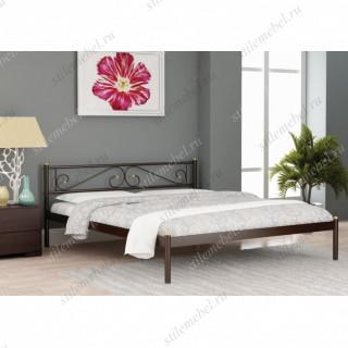 Кровать двуспальная ШАРМ (160х200/металлическое основание) Коричневый бархат
