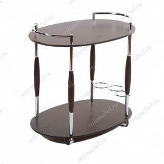 MK-2314. (VT-S-01) Сервировочный столик (МДФ+хромир-й металл)