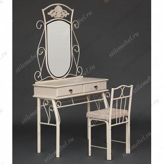 Туалетный столик Канцона CANZONA (столик/зеркало + стул) butter white