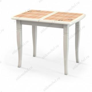 Стол «Домино-2О» слоновая кость, плитка «Комфорт», ноги D