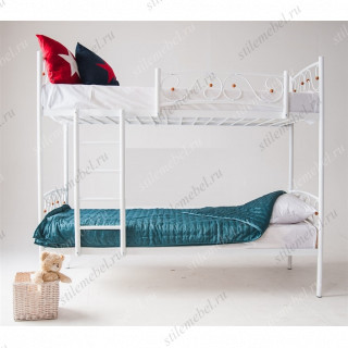 Двухъярусная кровать Валерия-DD (90х200) (Белый)