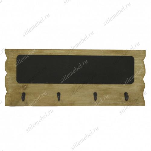Вешалка настенная деревянная с доской грифельной XIE3880