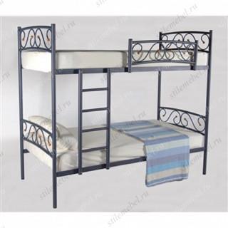 Двухъярусная кровать Валерия-DD (90х200) (СИНИЙ БАРХАТ)