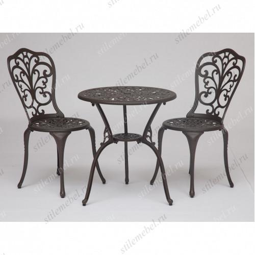 Стол и два стула «Романс» (Romance) (Бронза)