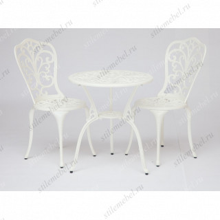 Стол и два стула «Романс» (Romance) (Белый)