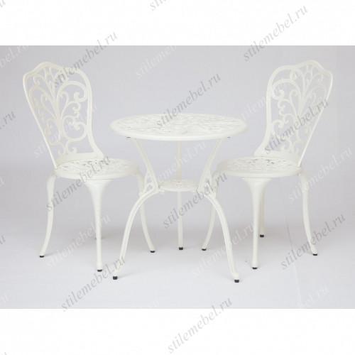 Стол и два стула «Романс» (Romance) (butter white)