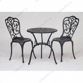 Стол и два стула «Романс» (Romance) (Черный)