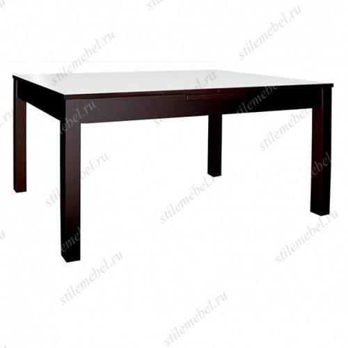 Стол обеденный №43 венге/стекло белое