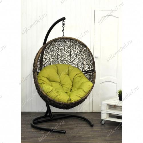 Кресло подвесное LUNAR коричневый