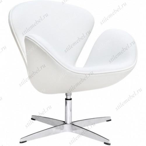 Кресло дизайнерское A 062 (white PU) Swan