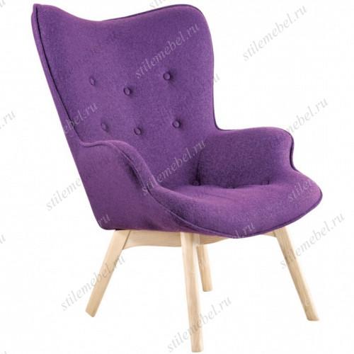 Дизайнерское кресло Крылья Ангела (Angels Wings) пурпурный кашемир