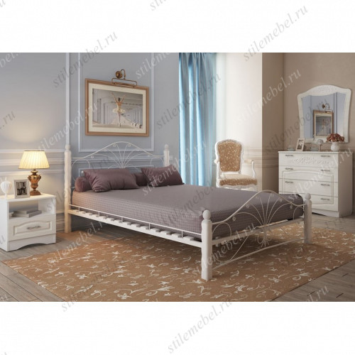 Кровать Фортуна 1 белый/белый (160х200)