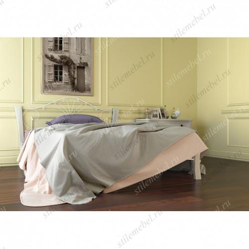 Кровать Фортуна 4 ЛАЙТ белый/белый