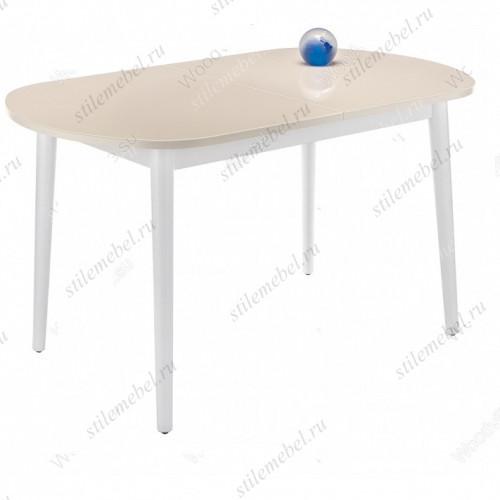 Стол Брис 110 кремовый/белый