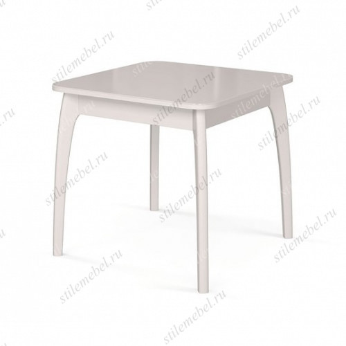 Стол обеденный №45 ДН4 белый/ стекло белое
