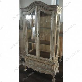 MK-2466-AB. Витрина двухдверная, 90х43х206 см, цвет: Античный бежевый. Henry 2D display cabinet, ANTIQUE BEIGE